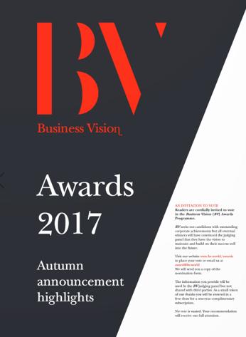Business Vision – Award – Autumn 2017